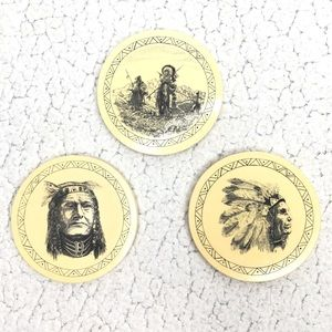 Barlow - Vintage Native American Coaster Set of 3